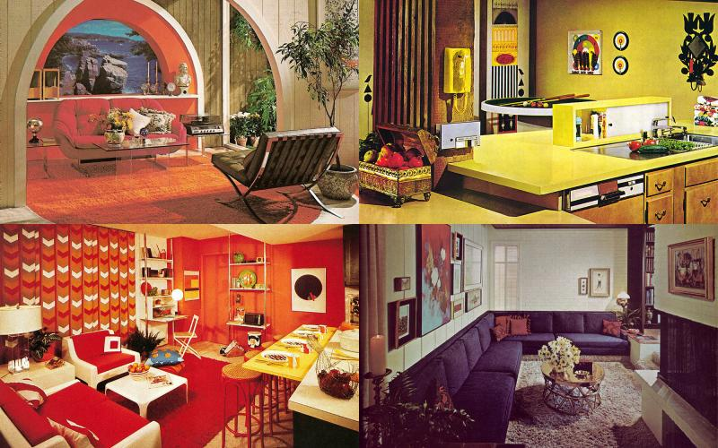 Interior ultra swank for 60s office design