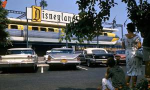The Disneyland Hotel has its own Monorail Train