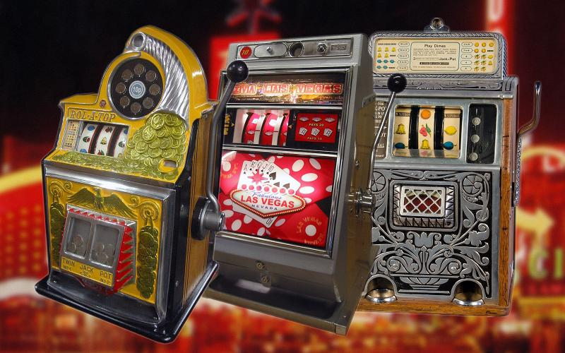 Slot machine black black