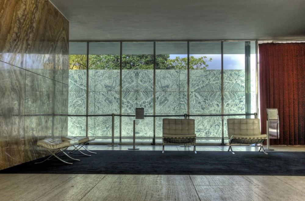 Interior Mies Van Der Rohe Likes Barcelona Ultra Swank