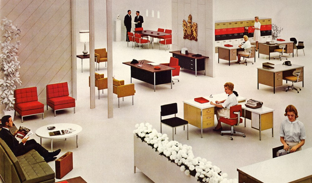 interior: elegant mid-century office design | ultra swank