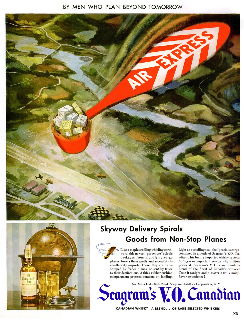 1947 - MWPBT Skyway Delivery Spirals Goods from non-stop Places