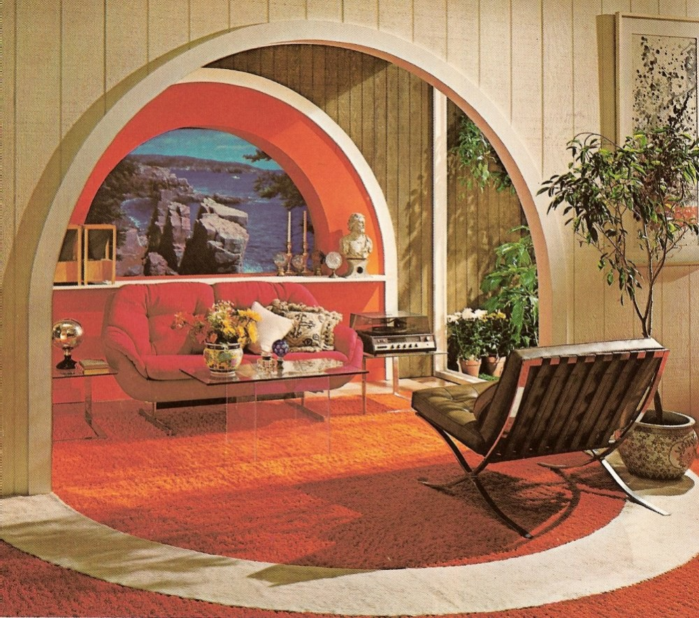 Above: 1970s Decor features  Bring nature inside your home