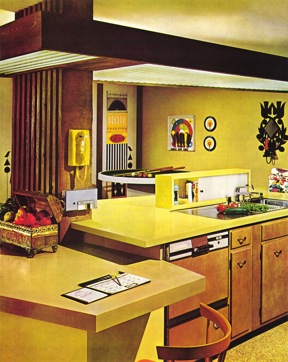 Interior five common 1970s decor elements ultra swank for Kitchen design 70s