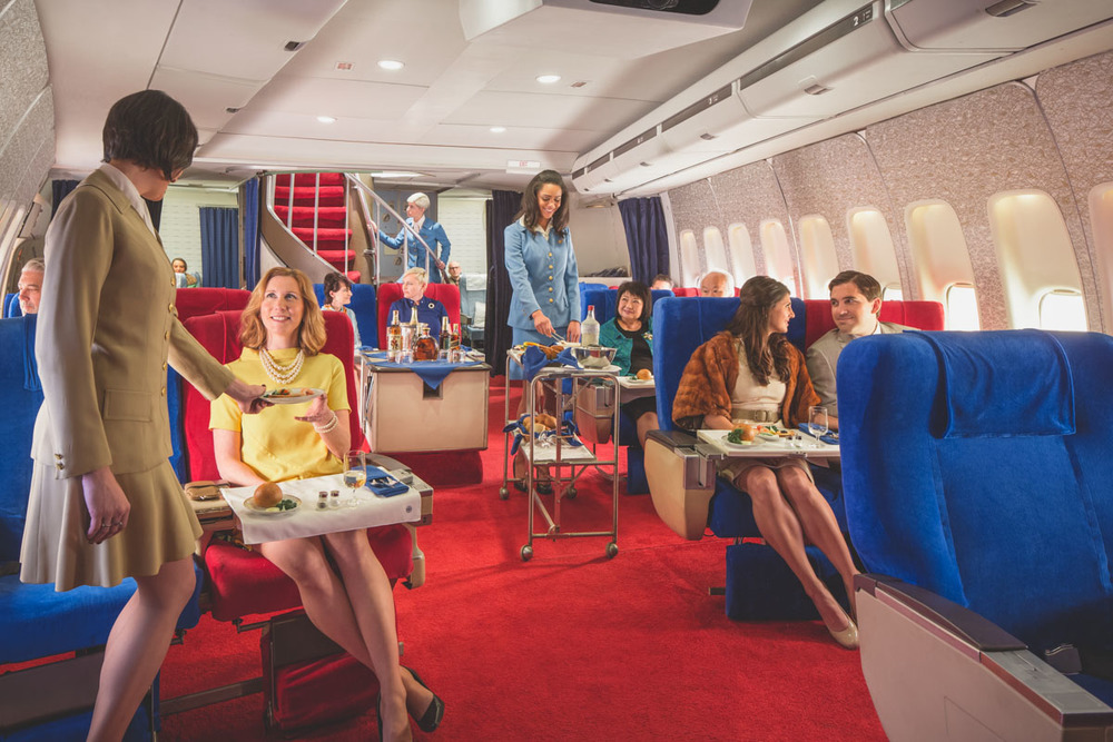 Pan Am Boeing 747 Cabin Recreated in Garage