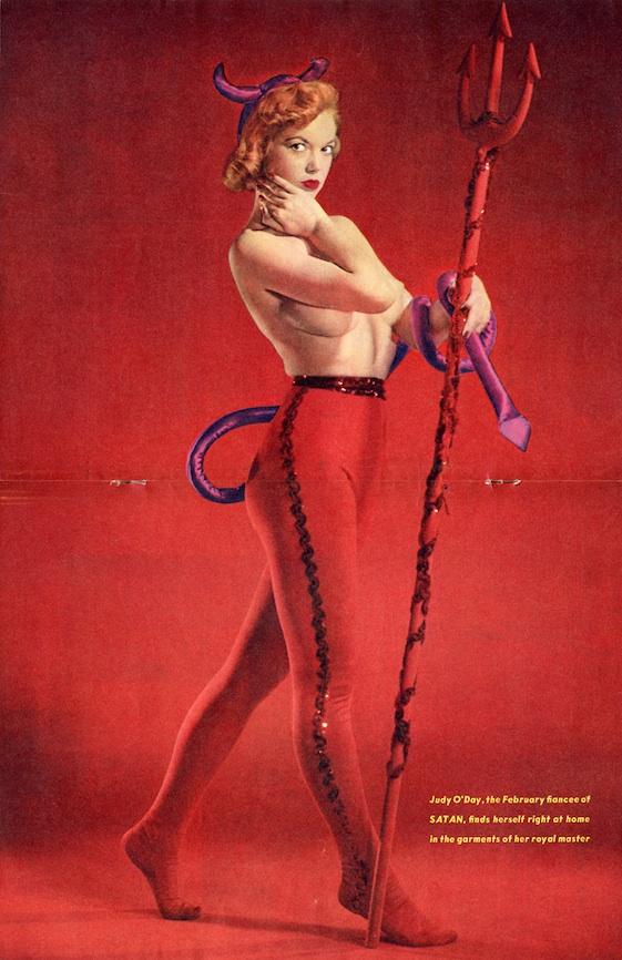 Satan Magazine February 1957 - Judy o' Day