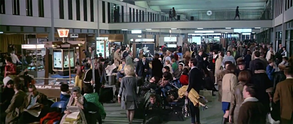 The departure lounge at Minneapolis-St Paul Airport