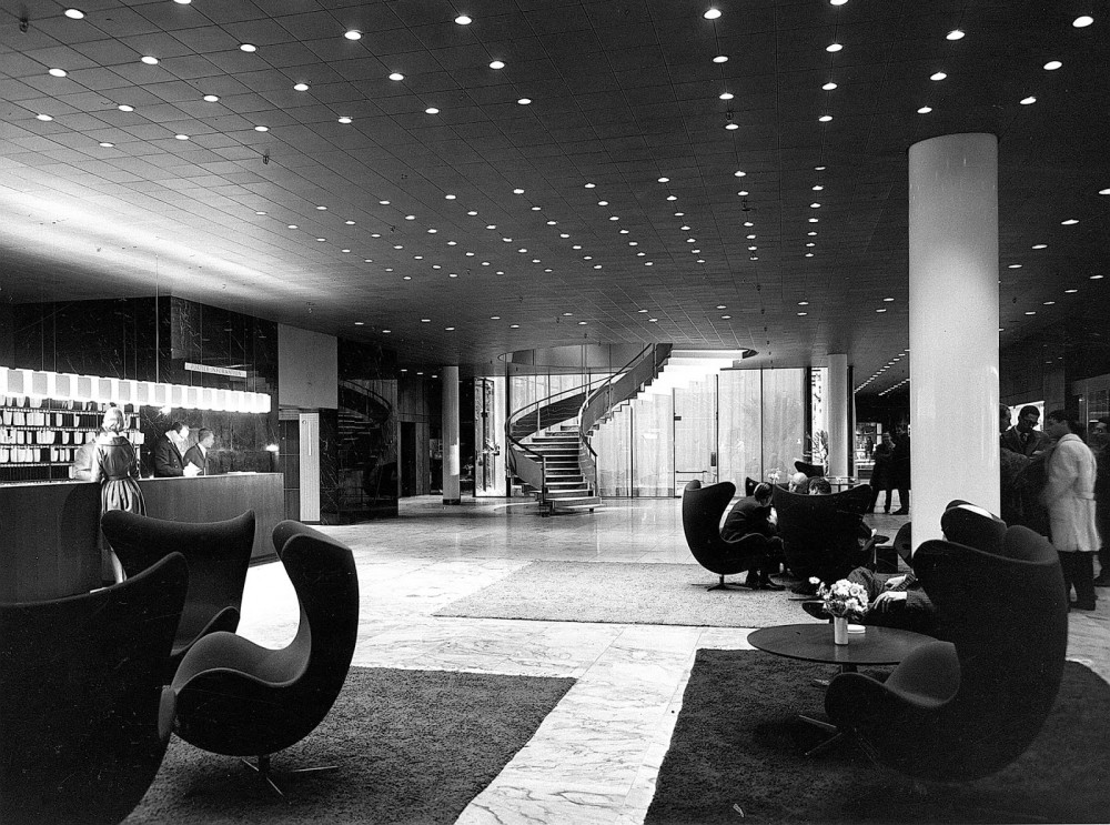 The Lobby of the Radisson SAS Royal Hotel, Copenhagen