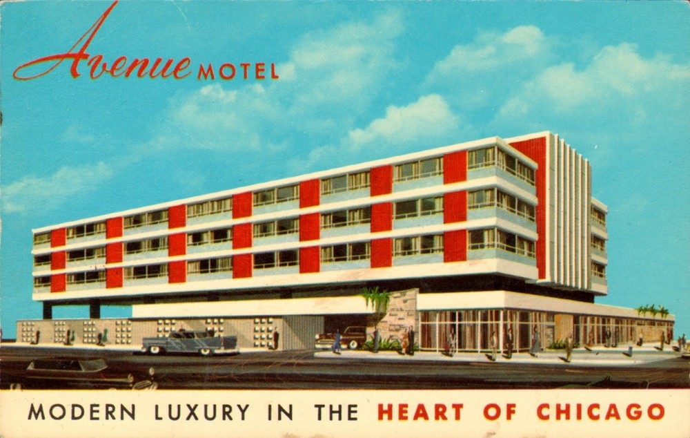 Architecture stylish mid century hotels motels ultra for Avenue hotel chicago