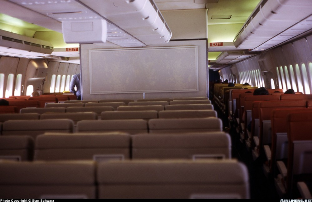 Pan Am's economy class cabin