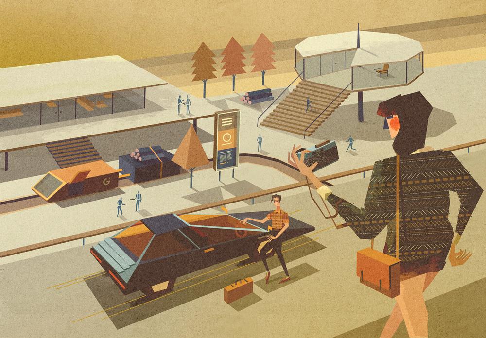 Design Modern Retro Futuristic Illustrations Ultra Swank