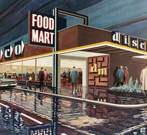 Let's Go Shopping – Retro Futuristic Concept Drawings