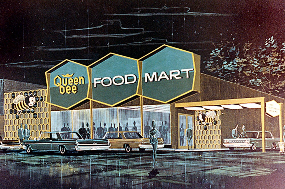 Let's Go Shopping – Retro Futuristic Concept Drawings