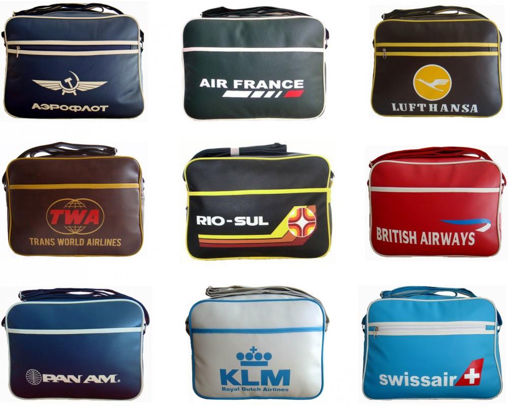 Retro Airline and Air Hostess Flight Bags