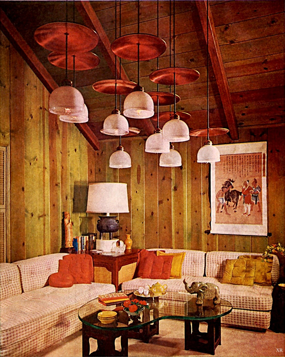 1960s decoration interior design kitsch shag