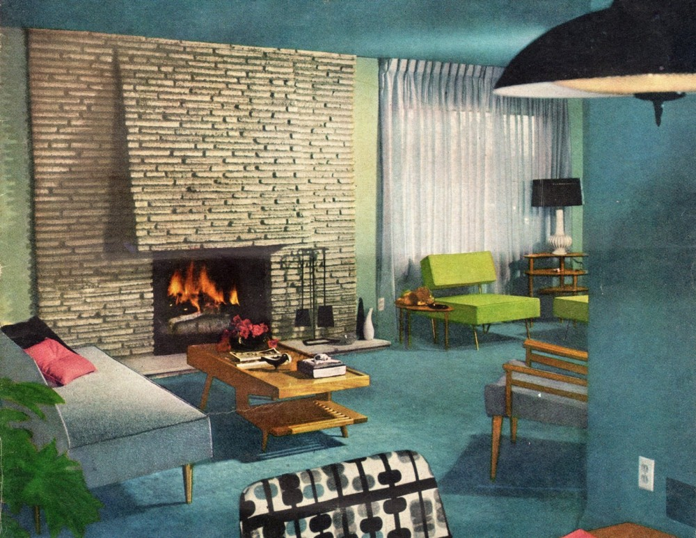 1960S Living Room Interesting Interior Home Decor Of The 1960S  Ultra Swank Decorating Design