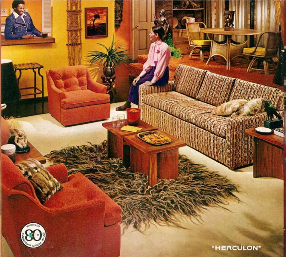 Interior home decor of the 1960s ultra swank for 70 s room design