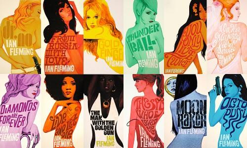 Unique Retro Flavored James Bond Cover Prints