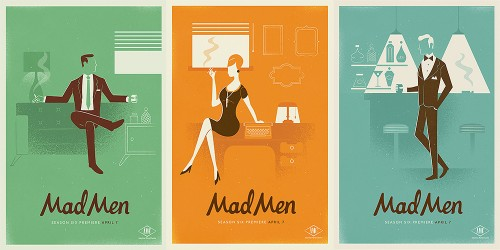 1960s Inspired Mad Men Posters