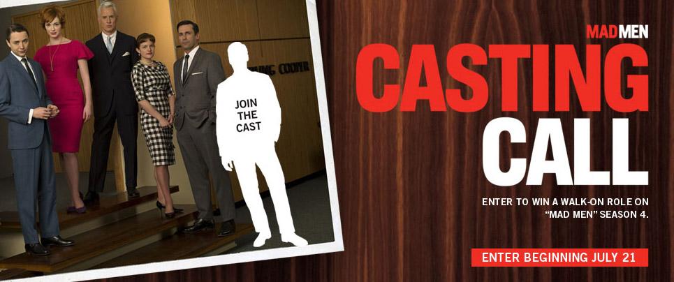 Mad Men Casting Call