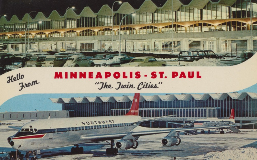 Minneapolis-St Paul Airport as it looked in the 1970s
