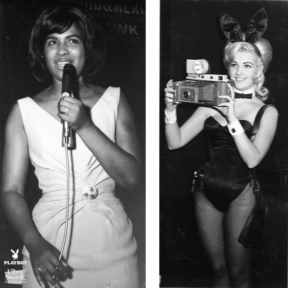Penthouse Singer and a camera Bunny