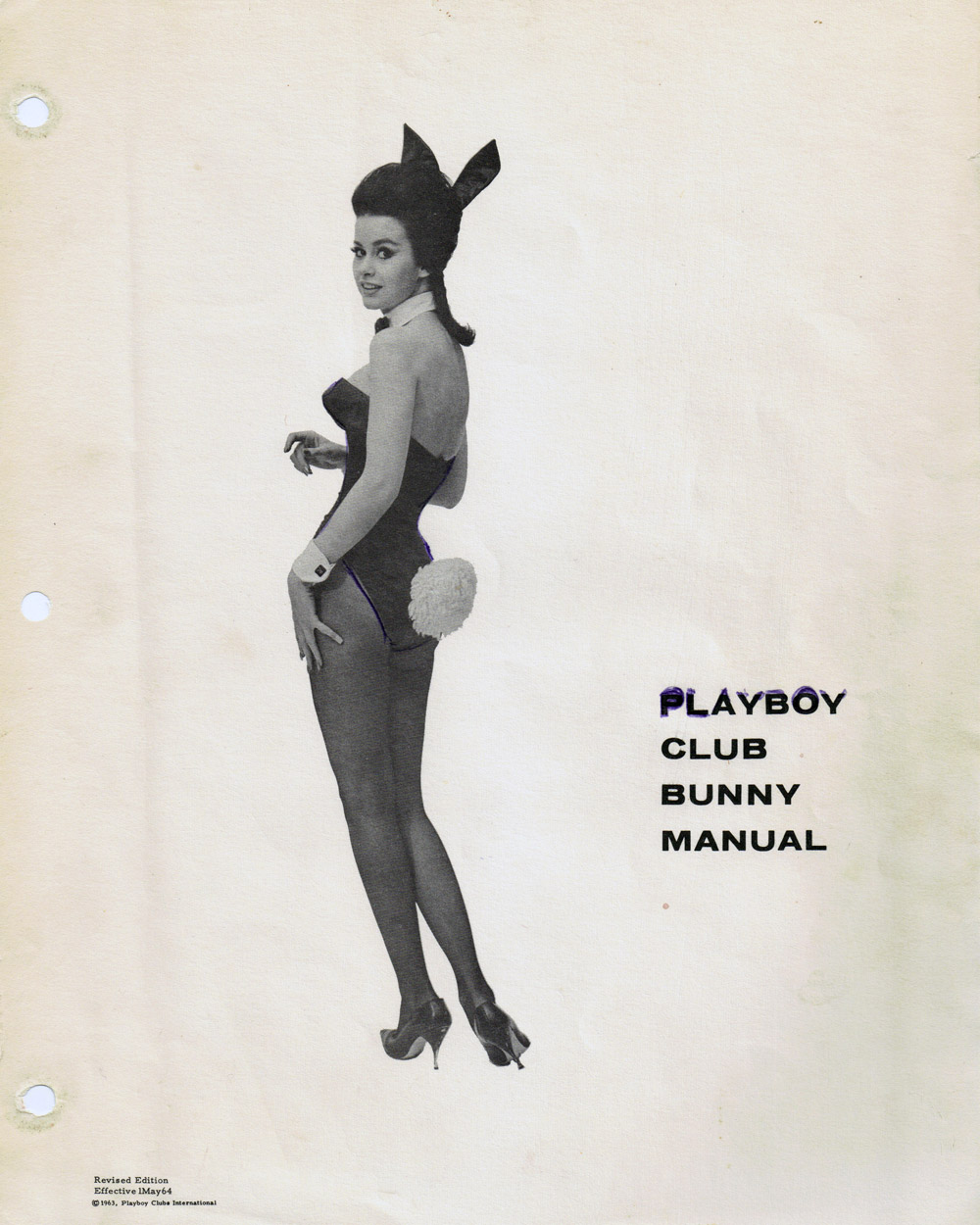 The 1964 Playboy Club Bunny manual cover page