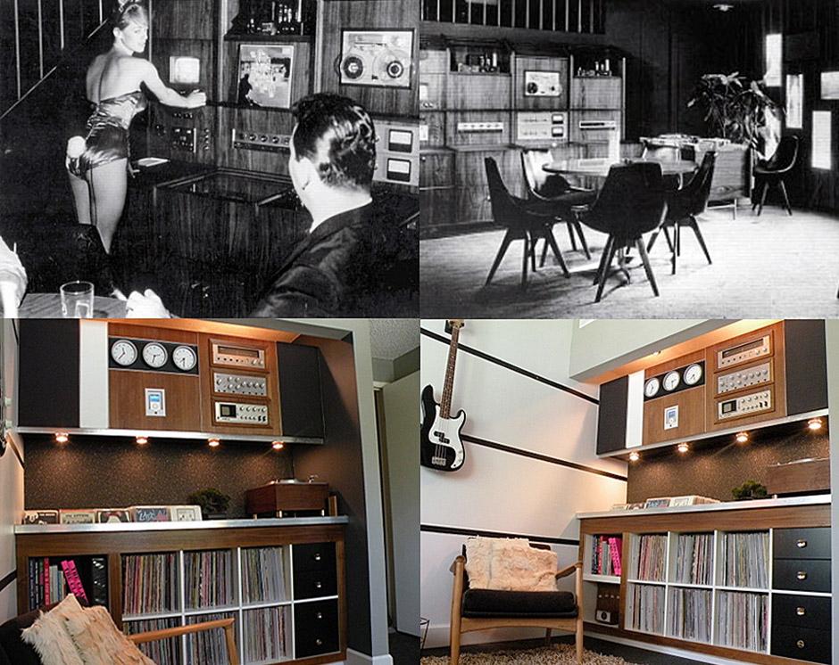 Playboy Inspired DIY Home Lounge