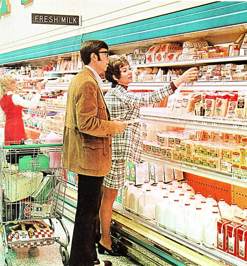 The Dairy Section at Publix circa 1972