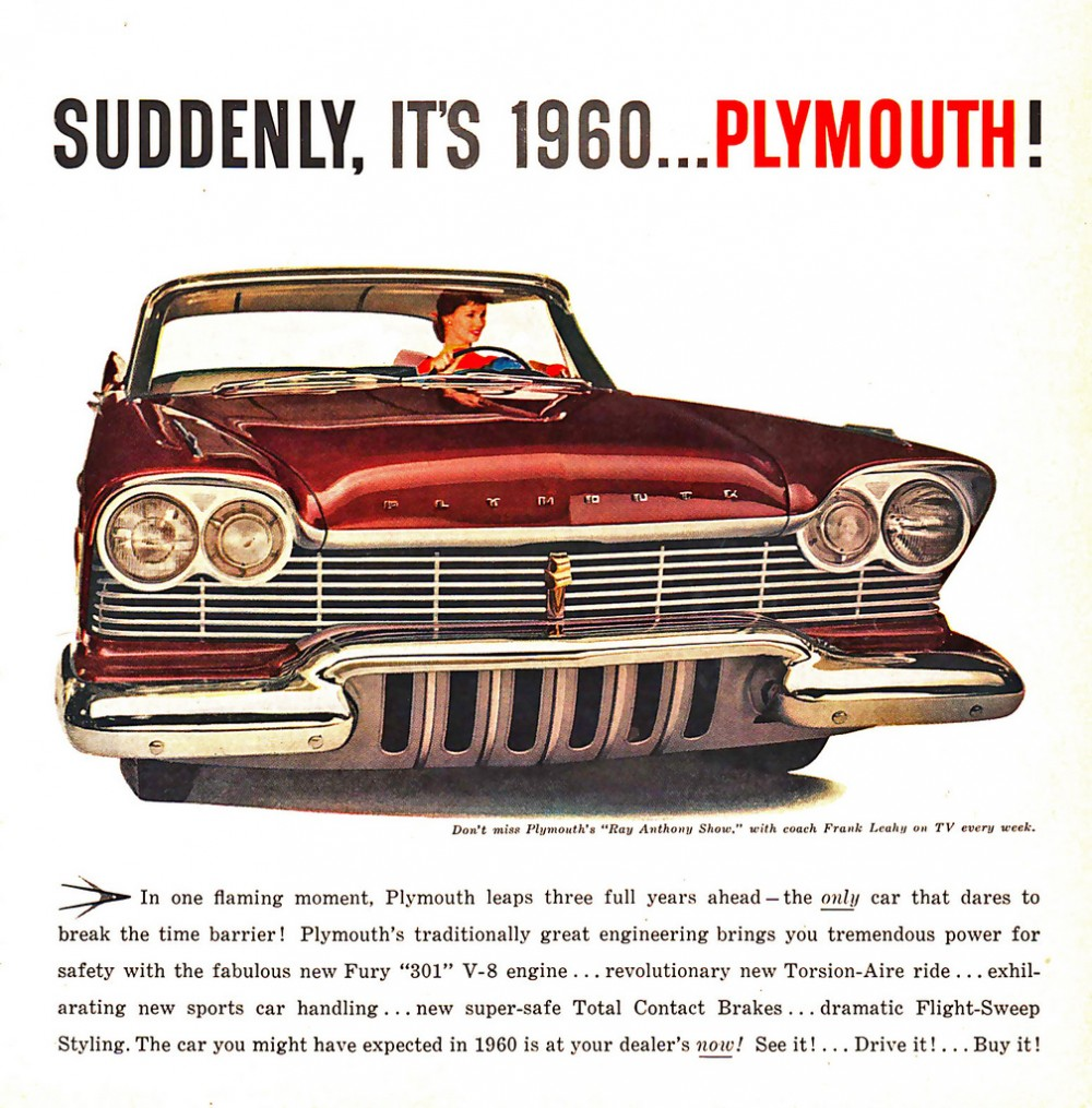 Advertising Classic Hand Drawn Car Ads From The Us