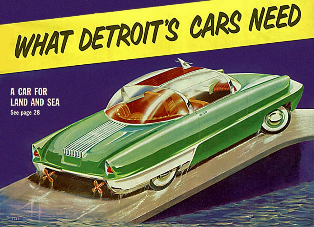 Advertising classic hand drawn car ads from the us ultra swank