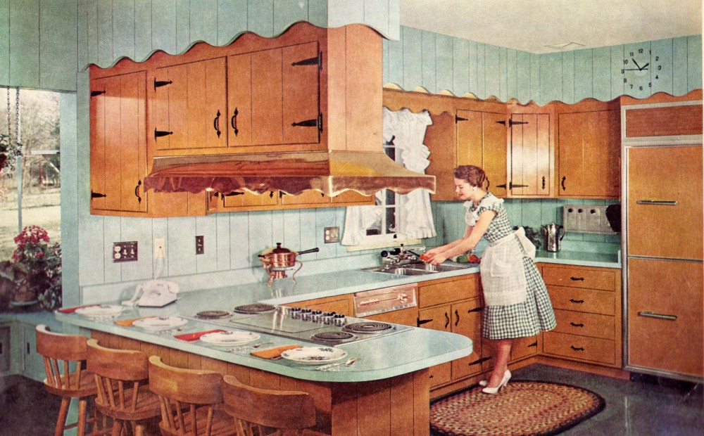 Interior retro kitchen renovation country kitchens - Vintage kitchen ...