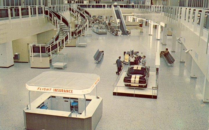 The interior of Stapleton Airport