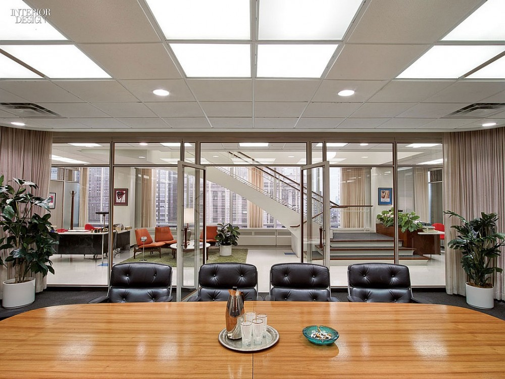 Design a tour of the sterling cooper partners office for 60s office design