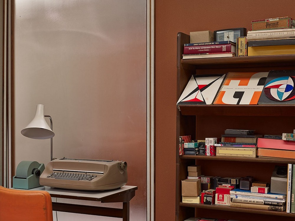 A smaller office with a vintage typewriter
