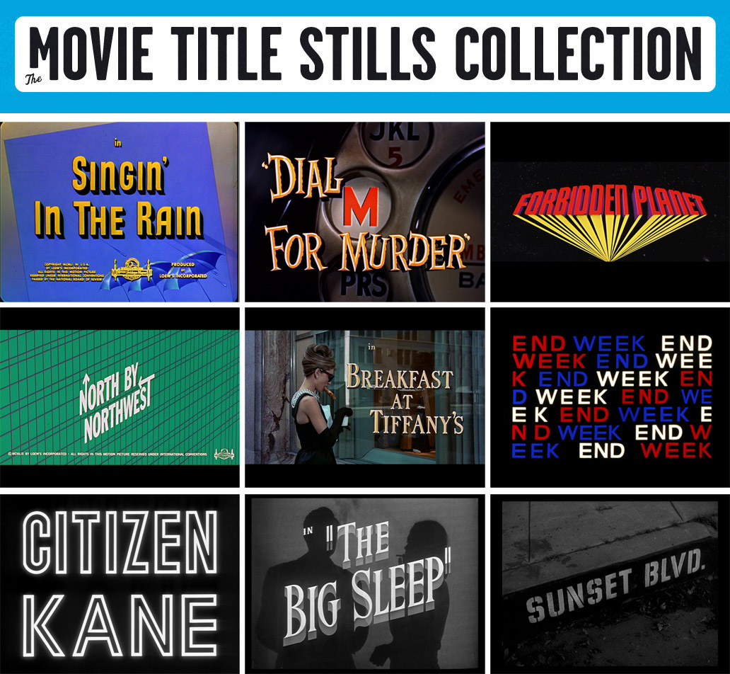 Film: 90 Years of Movie Titles | Ultra Swank